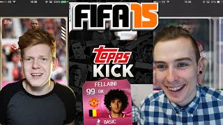 TOPPS KICK SQUAD BUILDER W/ TOBIIASGAMING!! **GK FELLAINI** - FIFA 15 ULTIMATE TEAM