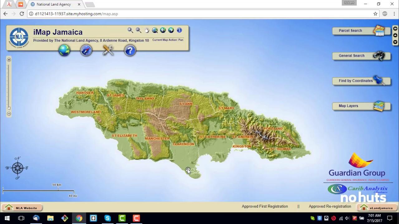Finding Jamaican Land Parcels using iMap Jamaica