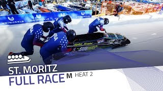 St. Moritz | BMW IBSF World Cup 2017/2018 - 4-Man Bobsleigh Heat 2 | IBSF Official