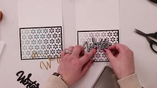 NO STAMPS NEEDED! Easy Card Making!