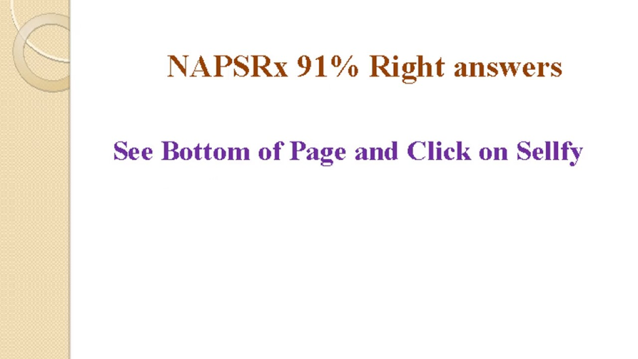 cnpr test napsr test answers new 91 right answers youtube rh youtube com