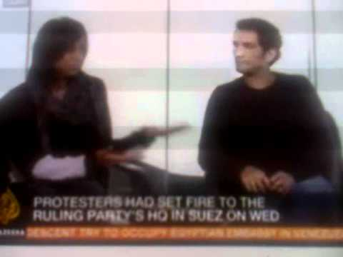 ANGER IN EGYPT  AMR WAKED  GIGI IBRAHIM TALKS ABOUT THE CRISIS IN EGYPT 290111