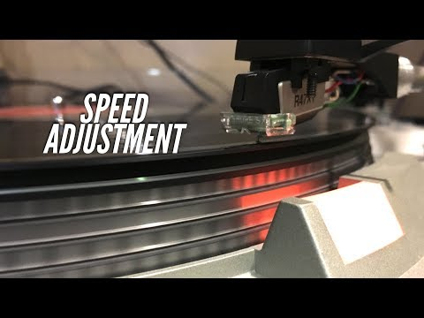 Using Pitch Control to Adjust Turntable Speed