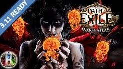Path of Exile 3.10 - Summon Raging Spirits SRS Build - Necromancer Witch - Delirium PoE 2020
