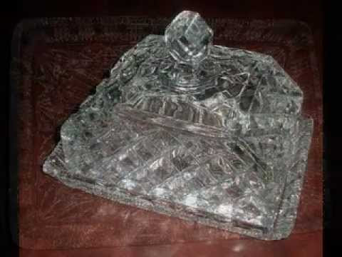 Early 19th Century Victorian Cut Glass Butter Dish 1830