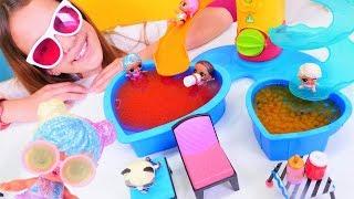 spielspa mit puppen aya organisiert fr die lol puppen eine poolparty