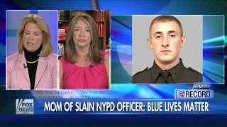 Mom of slain officer: Killing must stop, Blue lives matter