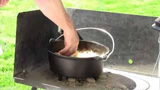 Dutch oven Mountain Man Breakfast - Part 2