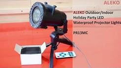 ALEKO Outdoor Indoor Holiday Party LED Waterproof Projector Lights