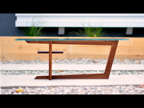Designing and Building a Modern Coffee Table - Woodworking Projects