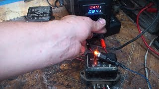 Правильная проверка реле РР-1. ИЖа.  6 вольт.  Correct check of relay РР-1.