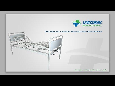 Polohovacia posteľ mechanická štvordielna - VIDEOMANUÁL