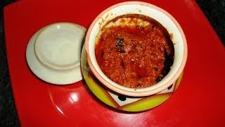 How to Make the Tasty Tomato Pickle Andhra Style .:: by Attamma TV ::.