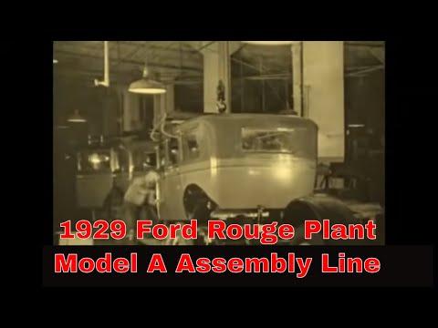 1919 FORD AUTOMOBILE CO. FILM MODEL T HIGHLAND PARK PLANT ASSEMBLY LINE (SILENT) 45354