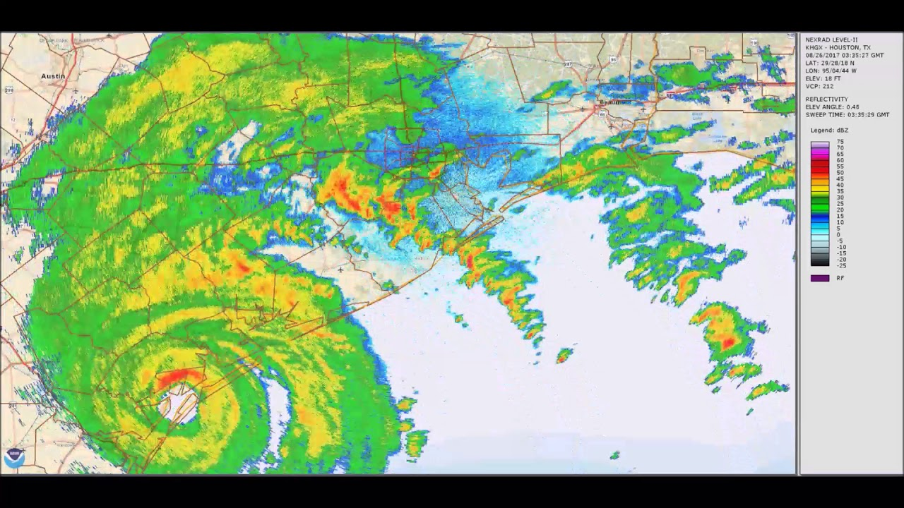 Hurricane Harvey 5 Day Weather Radar Loop   YouTube