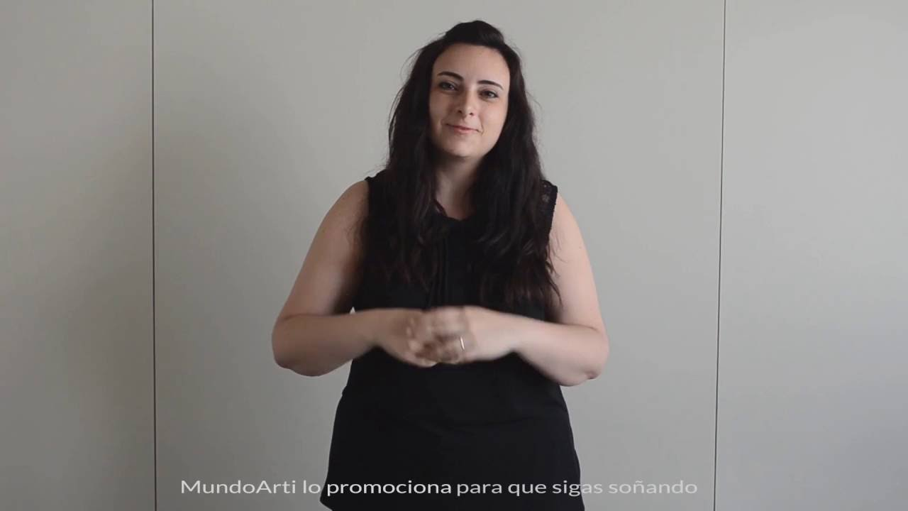 Presentación MundoArti en lenguaje de signos