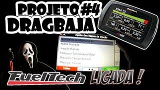 Aln1001 Projeto Dragbaja #4 - Fueltech Ft400 Ligada - Mostrando Funções - Aln Day E Sorteio Chegando