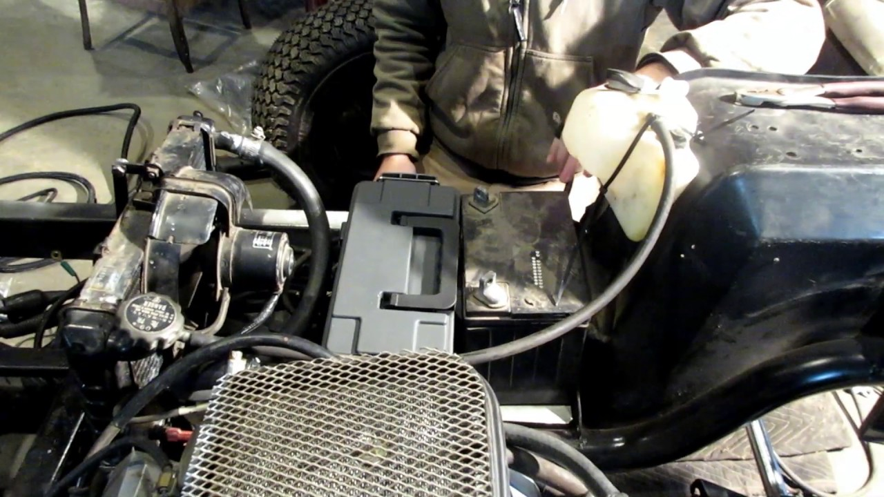 yamaha g1 part 17: golf cart brakes and air filter screen