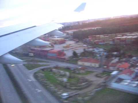 Landing at Porto Airport