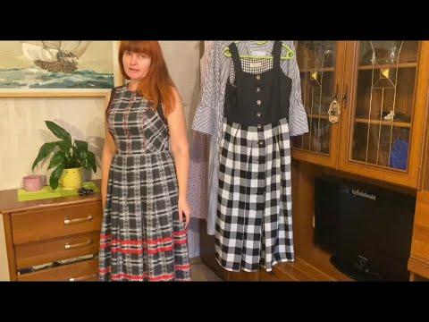 Винтажные платья из секонд хенда. Австрийско- баварский стиль.