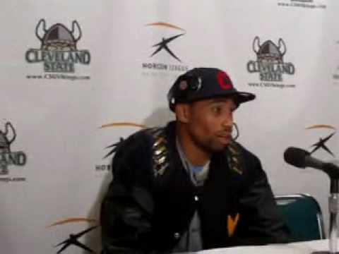 West Virginia Hoops Star Da'Sean Butler Talks About Win Over Cleveland State - YouTube