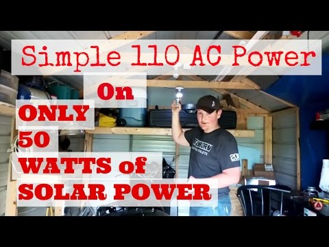 Simple 110AC In a solar powered building