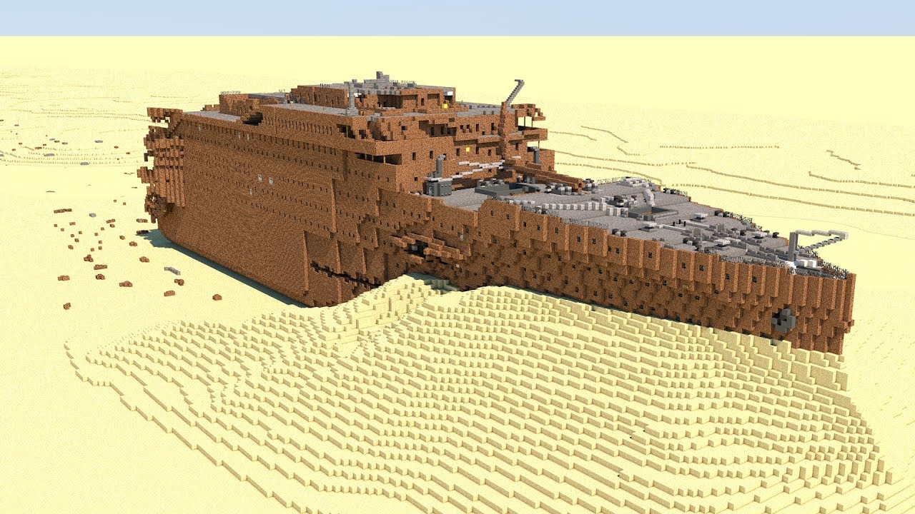 Minecraft Rms Titanic Wreck Youtube