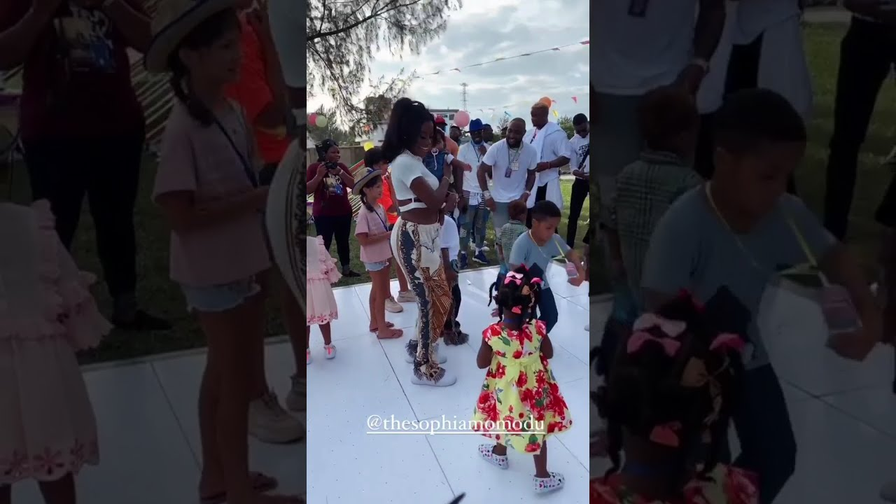 """""""You are a great mother"""" – Davido  praises Sophia Momodu at their daughter's 6th birthday party"""