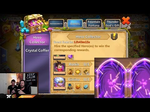 JT's Main 150,000 Gems FAST Rolling Hero Collector Castle Clash