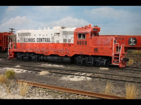 The Illinois Central GP10 model, made by Intermountain. HO Scale