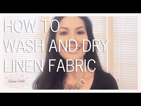 SEWING HOW-TO: Linen Fabric Care Tips