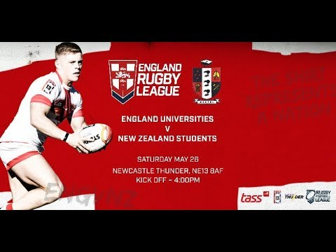 England Universities v New Zealand Students Game 2 - 2018 Student Rugby League International