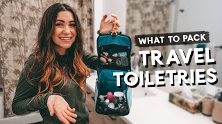 TRAVEL TOILETRIES - What To Pack | Hacks & Tips