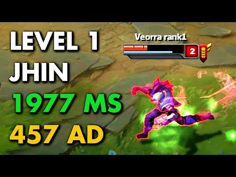 457 AD + 1977 MS JHIN AT LEVEL 1! Fastest Jhin!