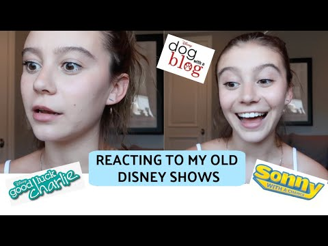Reacting To My Old Disney Shows!   G Hannelius