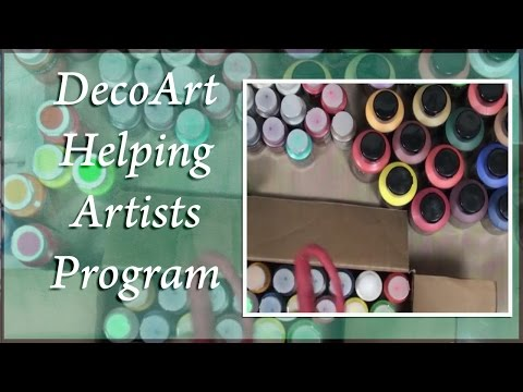 DecoArt Helping Artists Program - Products Arrived!