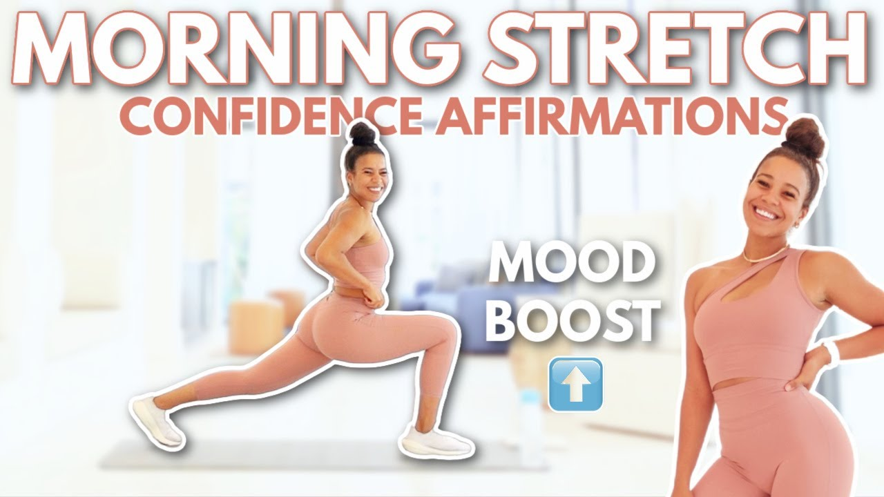 10 Min Morning Full Body Stretch + Confidence Affirmations to Level Up   growwithjo