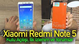 Xiaomi Redmi Note 5'i kullandık: Kutu açılışı ve ilk izlenimler