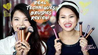 Review chổi/cọ trang điểm Real Techniques | Loveat1stshine