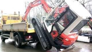 excavator climbing