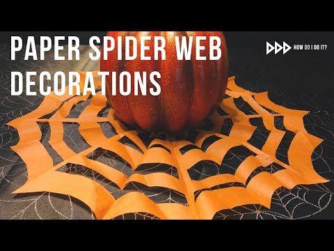 DIY Halloween Paper Spider Webs