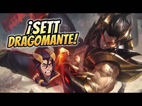 💥 ¡LA NUEVA MEJOR SKIN DE SETT! ¡SETT DRAGOMANTE ES BESTIAL! 💥 Obsidian Dragon Sett Gameplay Español