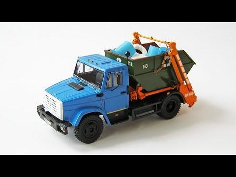 Сборка модели - Мусоровоз КО-450 / ЗИЛ-4333 (AVD Models)