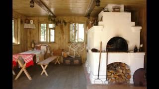 Печка в интерьере частного дома
