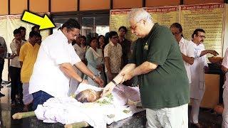 Rita Bhaduri Funeral Full Video   TV Celebs CRIES At Last Rites of Veteran TV Actress Rita Bhaduri