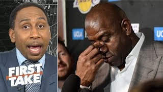 Magic might be hiding why he didn't tell LeBron before leaving the Lakers - Stephen A. | First Take