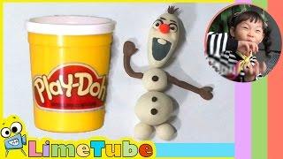 플레이도우로 겨울왕국의 올라프 만들기 스톱모션 [Play Doh] Stopmotion Animation of Making Olaf in Frozen 라임튜브