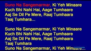 Suno Na Sangemarmar - Arijit Singh Hindi Full Karaoke with Lyrics