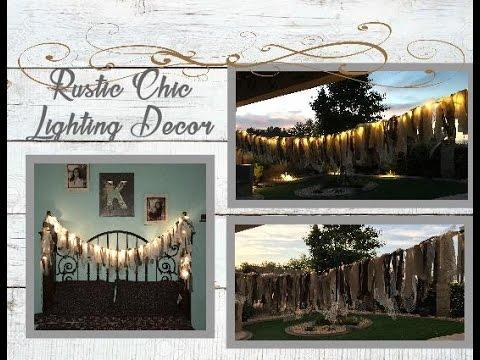 DIY Rustic Country Lighting Decor....