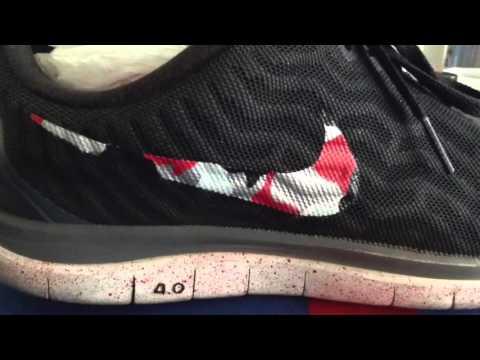 Red Camo Nike Swoosh Custom